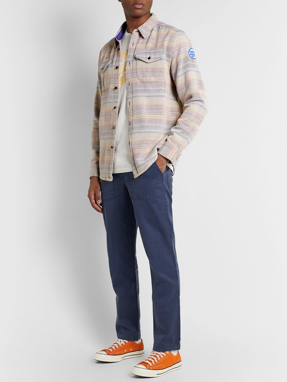 Outerknown Striped Organic Cotton-Jacquard Overshirt