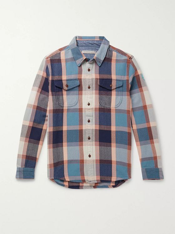 Outerknown Blanket Appliquéd Checked Organic Cotton-Twill Overshirt