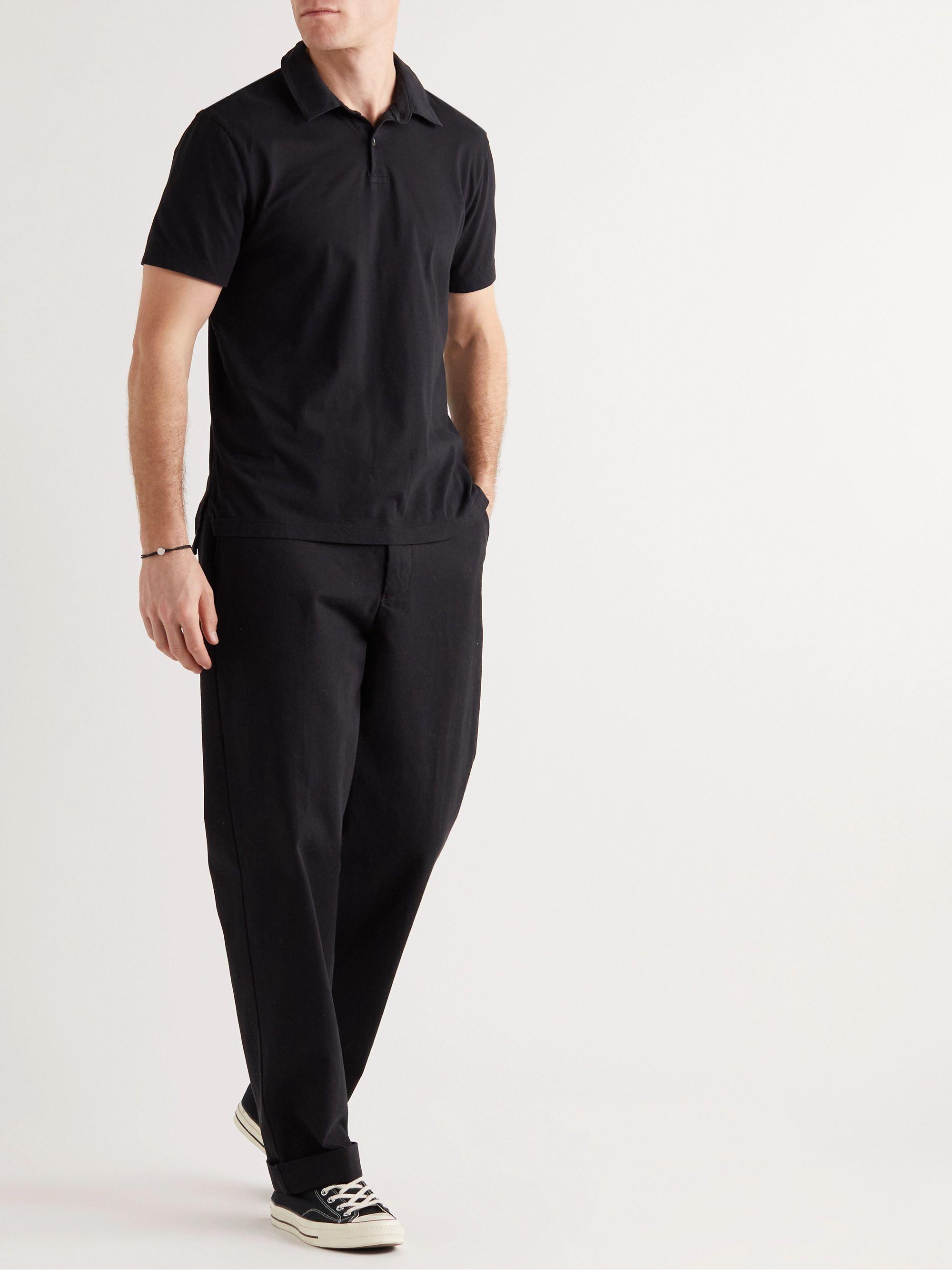 Black Slim-fit Supima Cotton-jersey Polo Shirt | James Perse