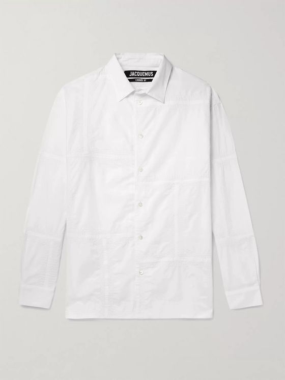 Jacquemus Patchwork Embroidered Cotton Shirt