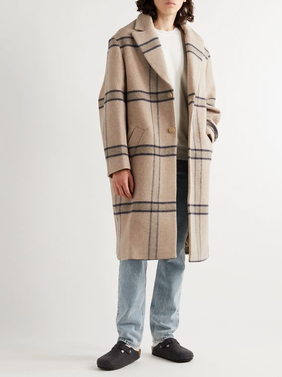 Jacquemus Checked Virgin Wool Coat