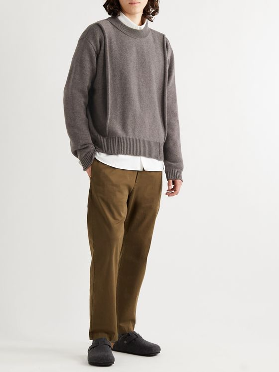 Jacquemus Virgin Wool Mock-Neck Sweater