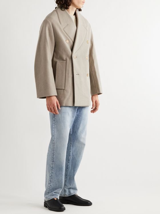 Jacquemus Caban Double-Breasted Virgin Wool-Blend Blazer
