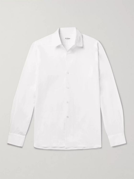 De Petrillo Cotton and Linen-Blend Shirt