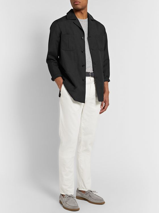 De Petrillo Wool and Linen-Blend Jacket