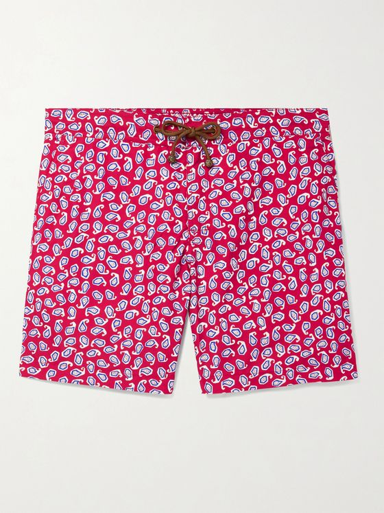 Thorsun + Charvet Mid-Length Printed Swim Shorts