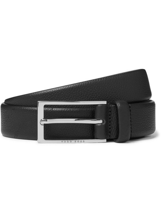 Hugo Boss 3cm Carmello Full-Grain Leather Belt