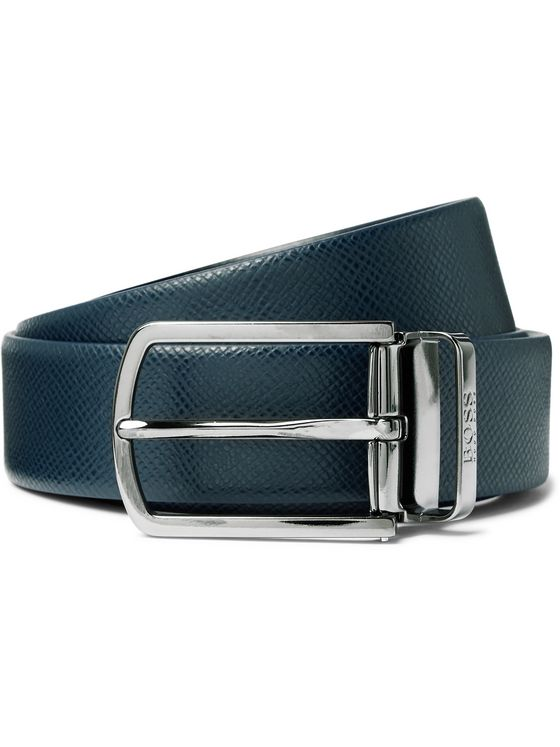 Hugo Boss 3cm Textured-Leather Belt