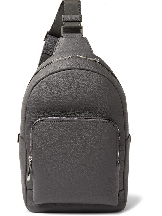 Hugo Boss Crosstown Full-Grain Leather Backpack