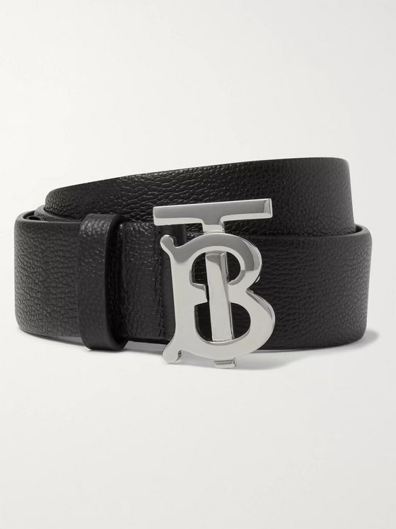 Burberry 3.5cm Full-Grain Leather Belt