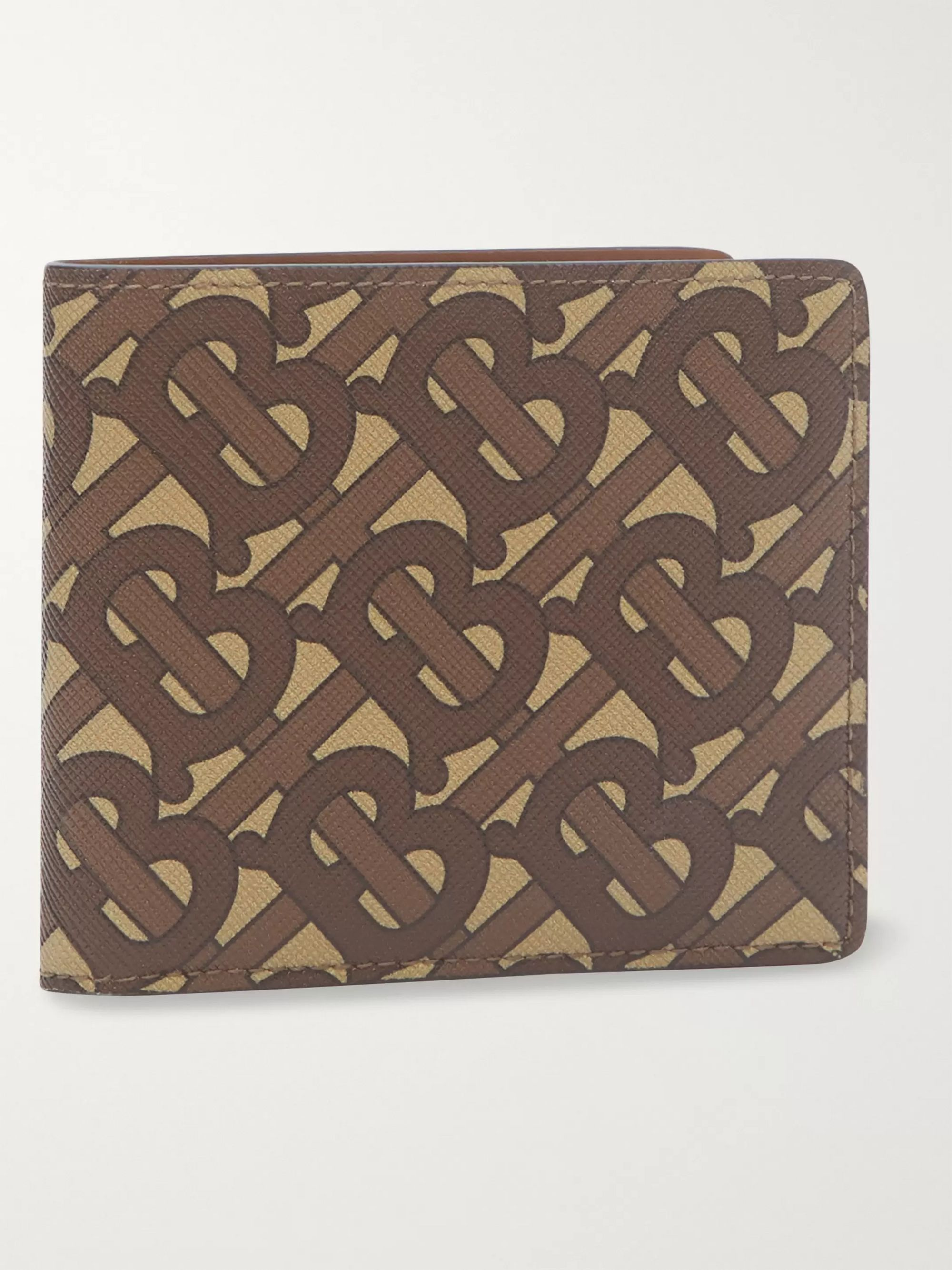 Burberry Logo-Print Coated-Canvas Billfold Wallet