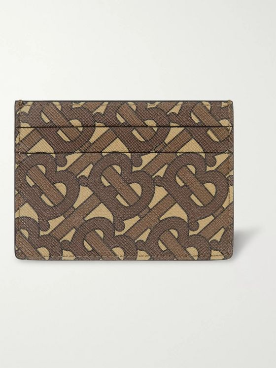 Burberry Logo-Print Coated-Canvas Cardholder