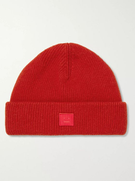 Acne Studios Logo-Appliquéd Wool-Blend Beanie