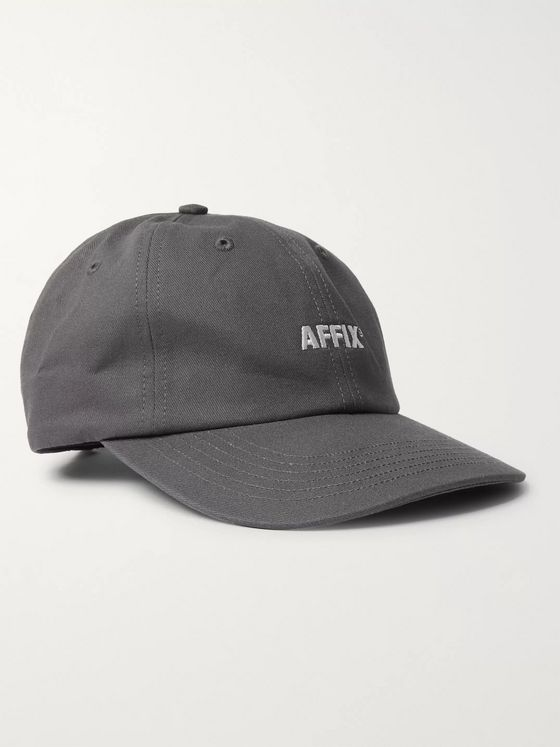 AFFIX Logo-Embroidered Cotton-Twill Baseball Cap