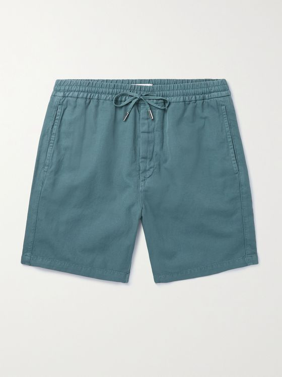 MR P. Slub Linen and Cotton-Blend Drawstring Shorts