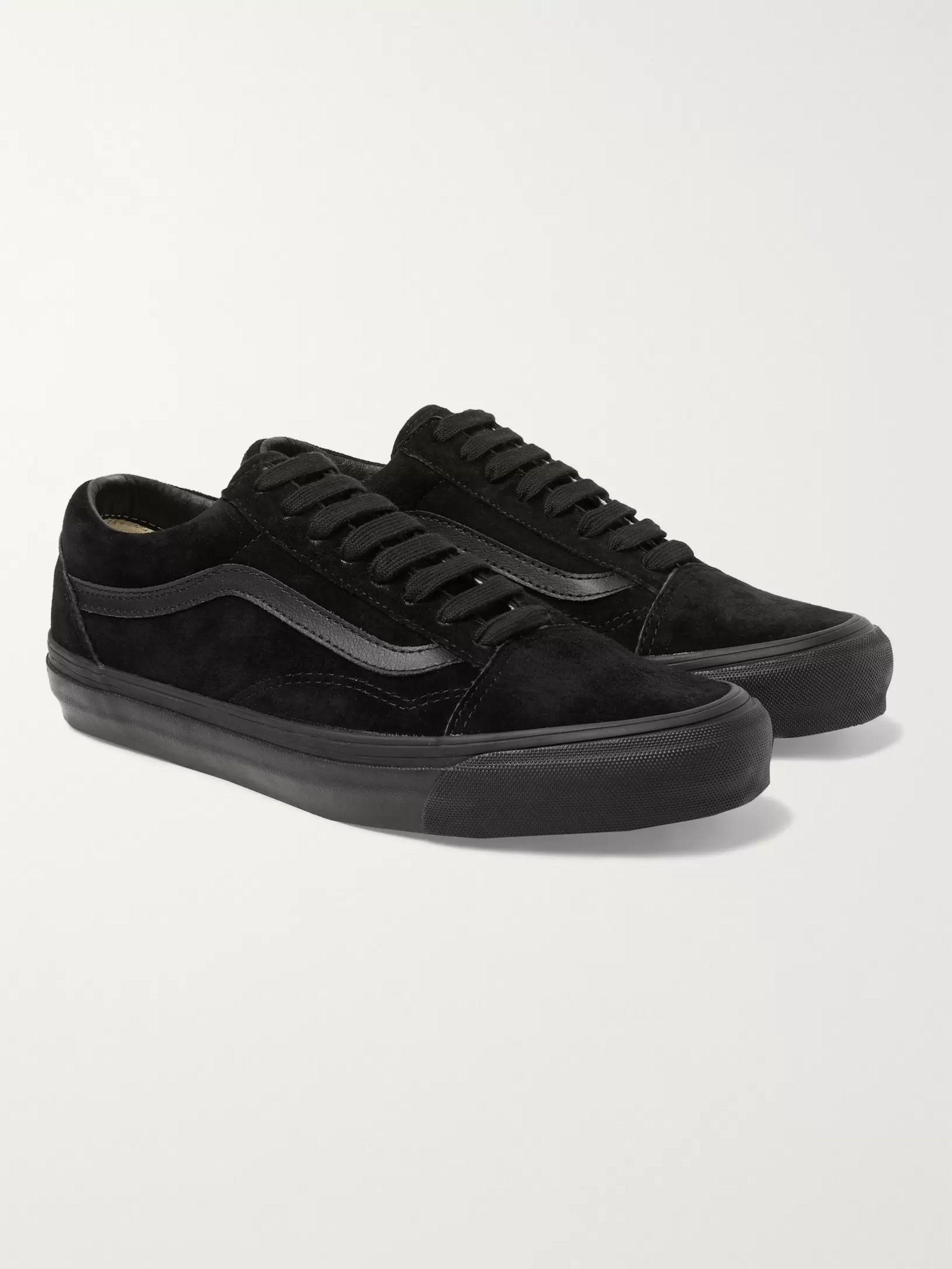 OG Old Skool LX Leather Trimmed Suede Sneakers