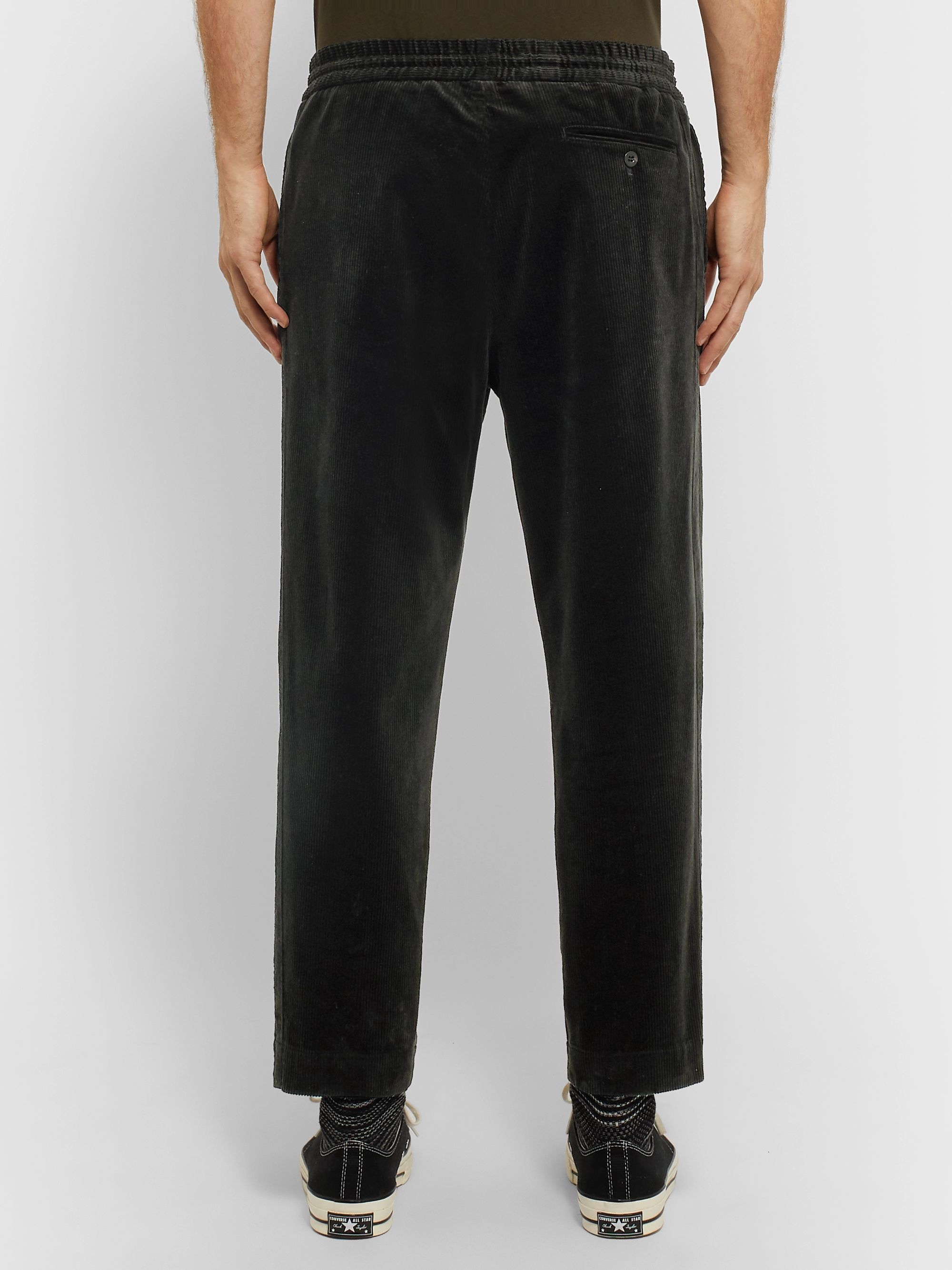 Mr P. Slim-Fit Cotton-Corduroy Drawstring Trousers