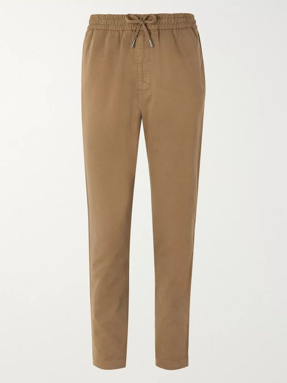 Mr P. Slim-Fit Cotton-Twill Drawstring Trousers