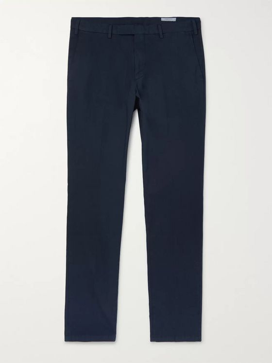 Boglioli Slim-Fit Cotton-Blend Poplin Trousers