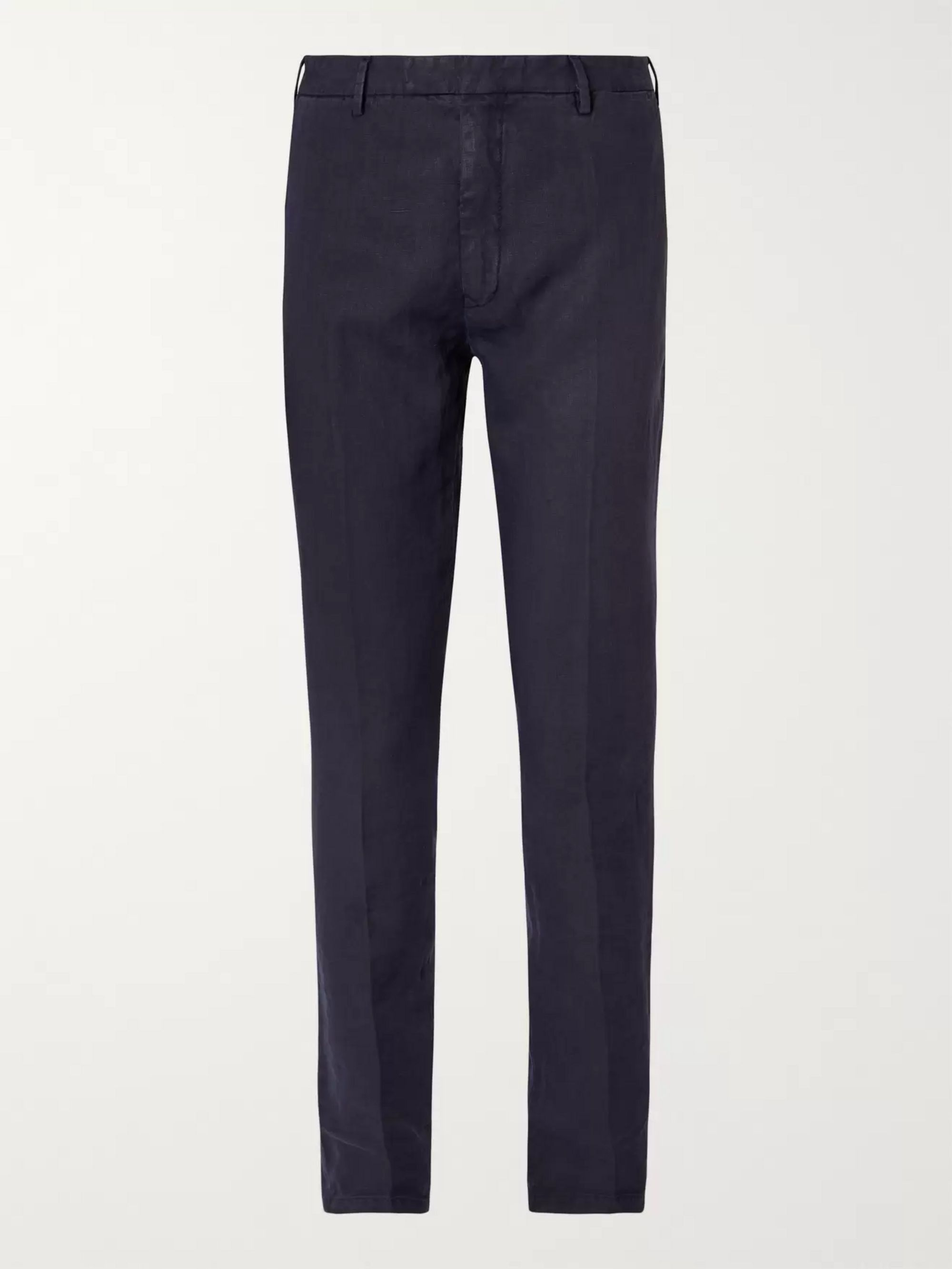 Boglioli Cream Slim-Fit Linen Suit Trousers