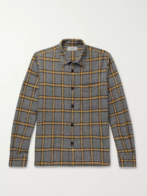 Mr P. Checked Brushed Virgin Wool Overshirt