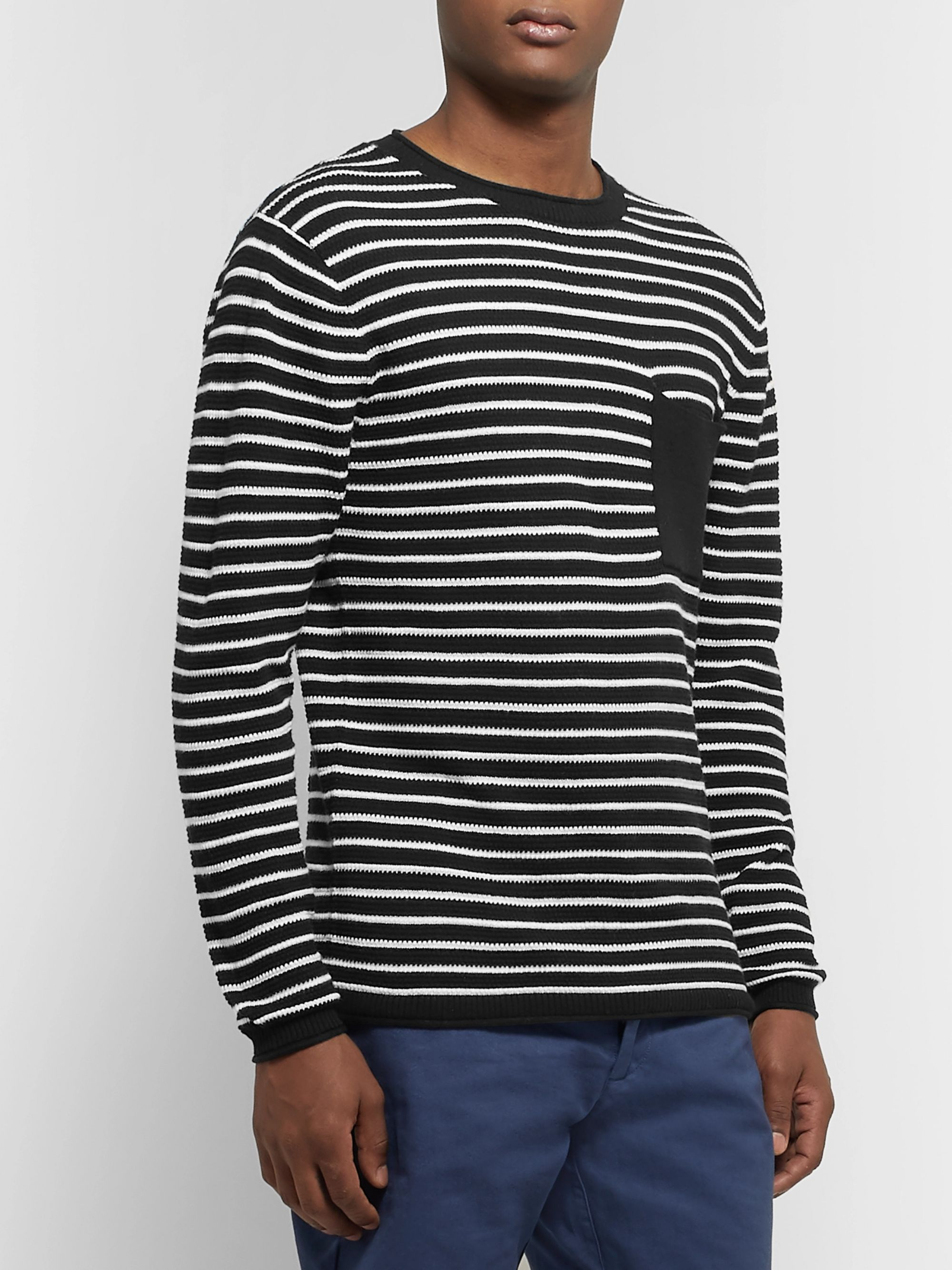 Striped Cotton And Cashmere Blend Sweater by Saturdays Nyc