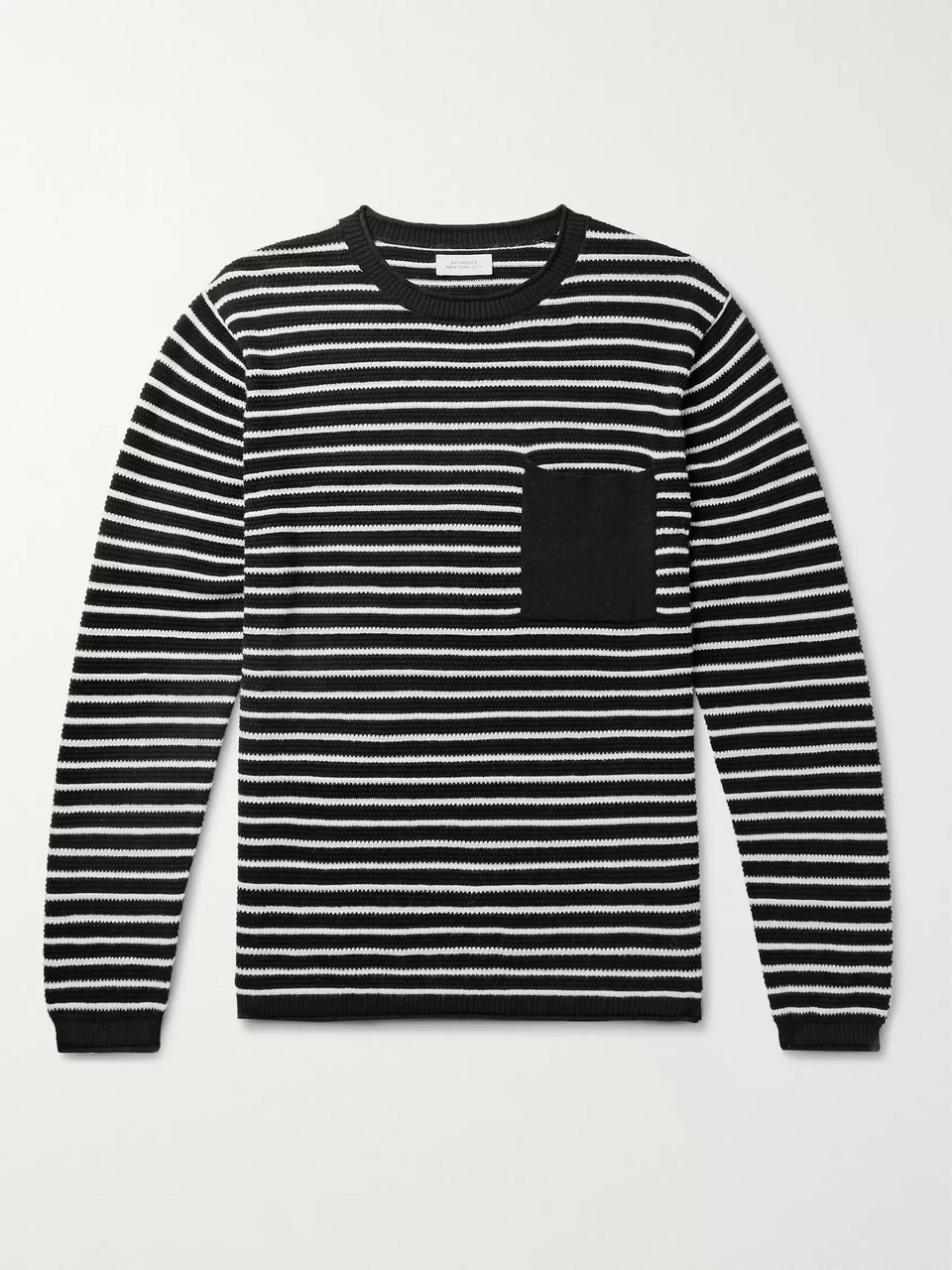 Saturdays NYC Striped Cotton and Cashmere-Blend Sweater