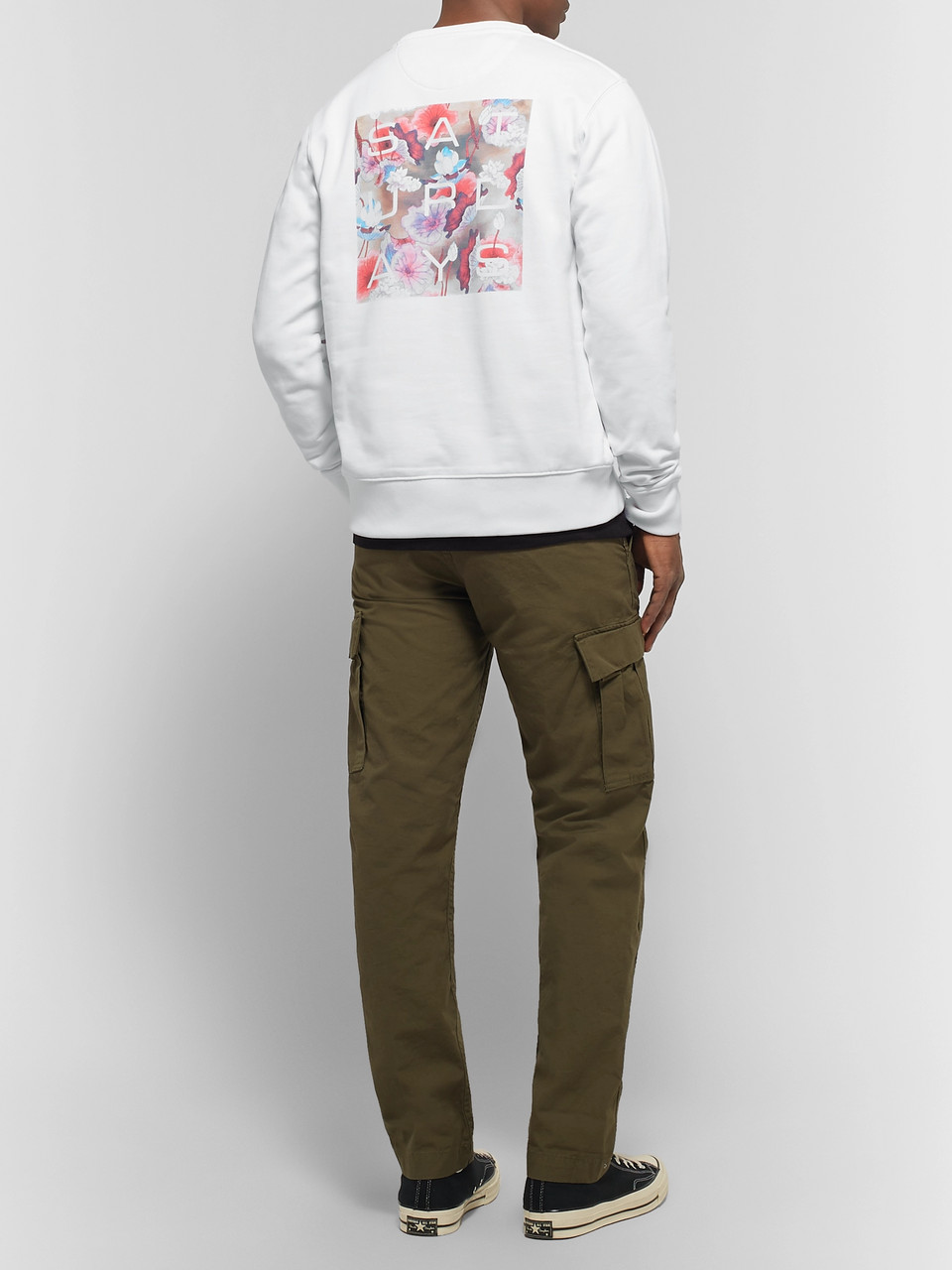 Saturdays NYC Logo-Print Loopback Cotton-Jersey Sweatshirt