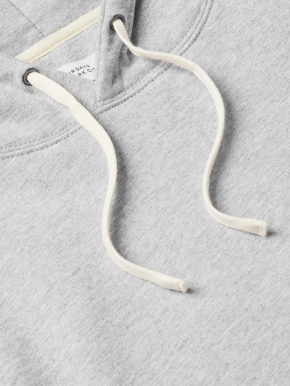 Saturdays NYC Ditch Slash Logo-Embroidered Mélange Loopback Cotton-Jersey Hoodie
