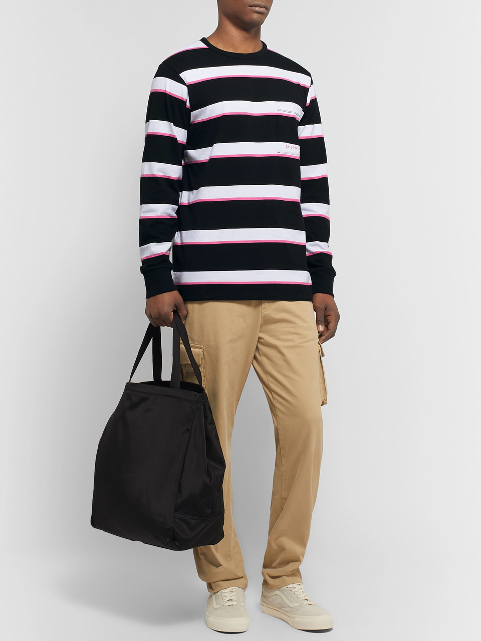 Saturdays NYC Striped Cotton-Jersey T-Shirt