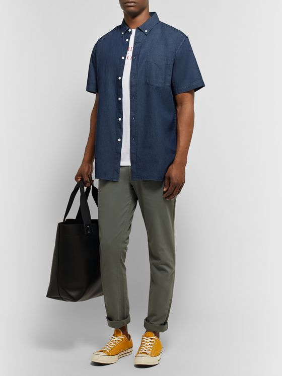 Saturdays NYC Button-Down Collar Denim Shirt