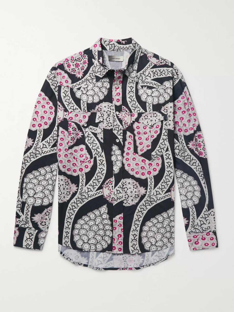 Isabel Marant Pitt Printed Cotton Western Shirt