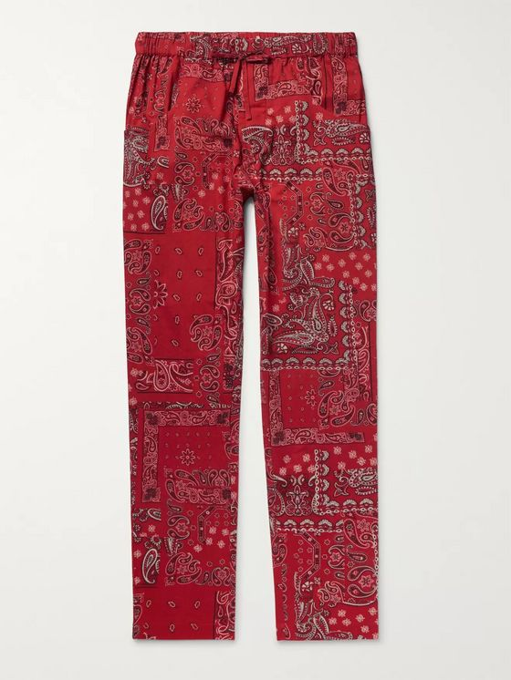 Isabel Marant Petros Printed Cotton Drawstring Trousers