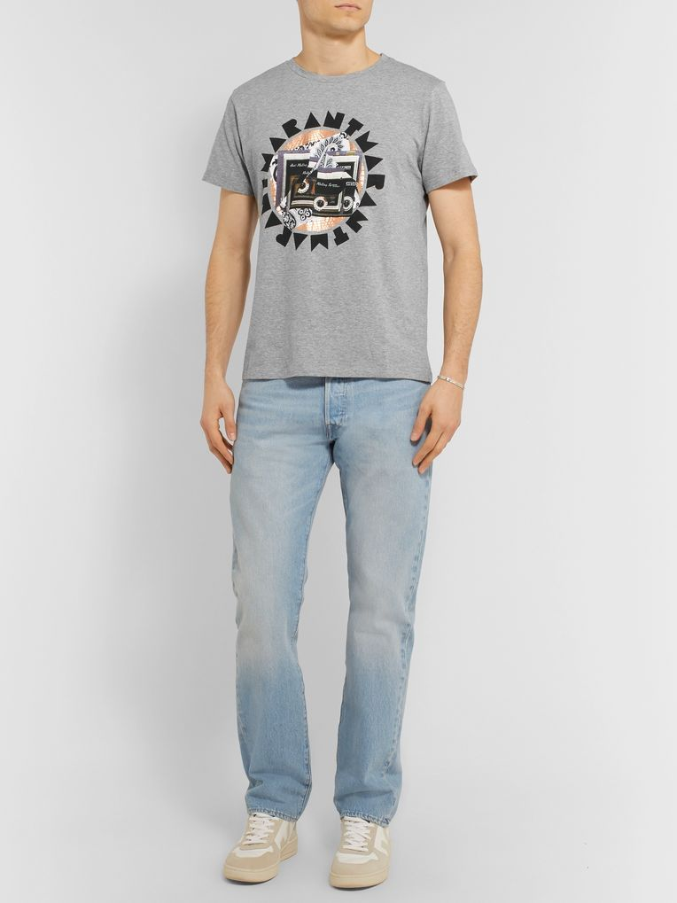 Isabel Marant Zao Printed Mélange Cotton-Jersey T-Shirt