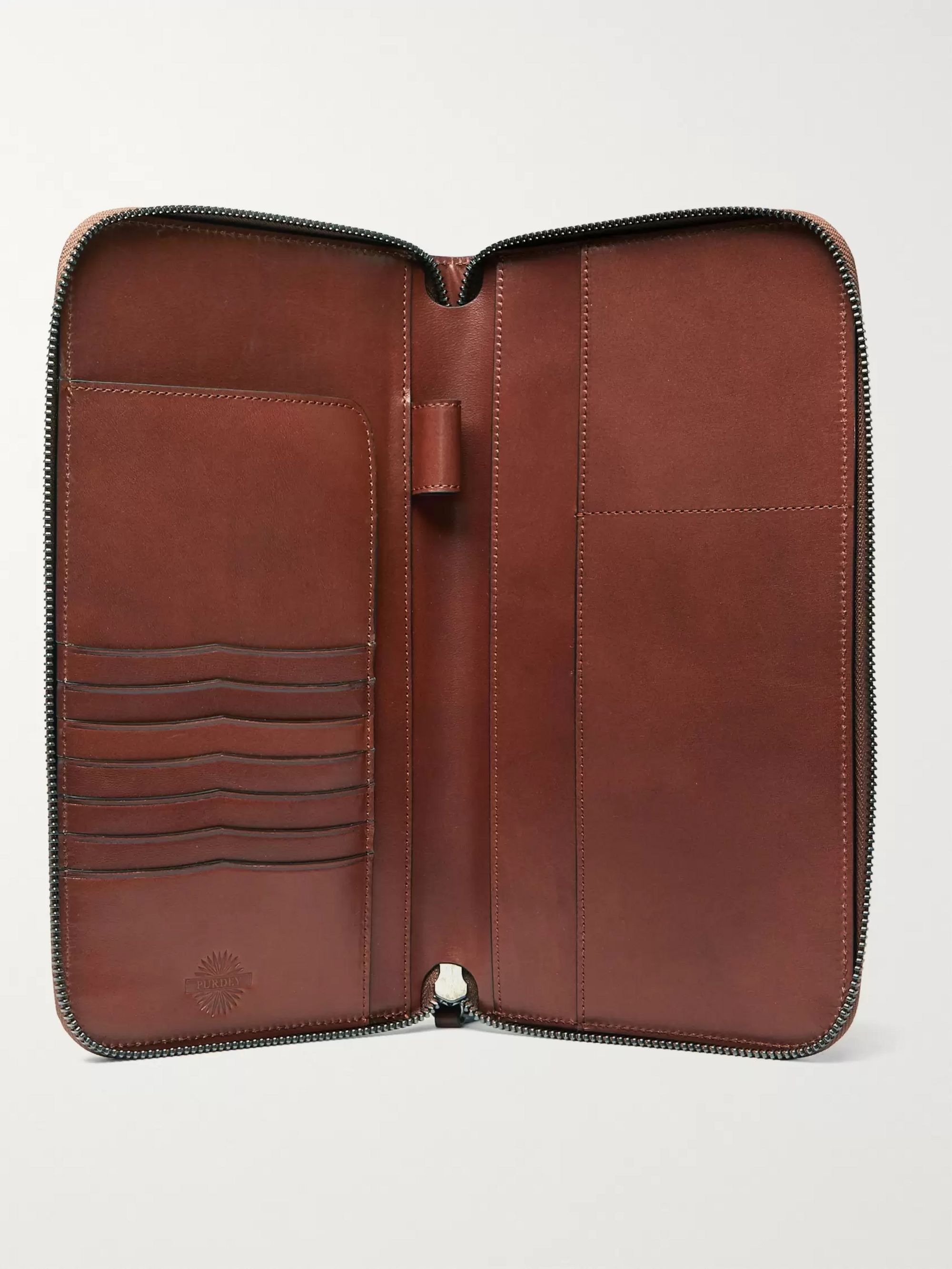 Purdey Leather Travel Wallet