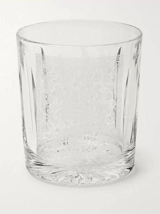 James Purdey & Sons Gun Scroll Engraved Crystal Tumbler