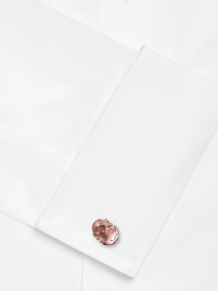Deakin & Francis Diving Helmet Rose Gold-Plated Cufflinks
