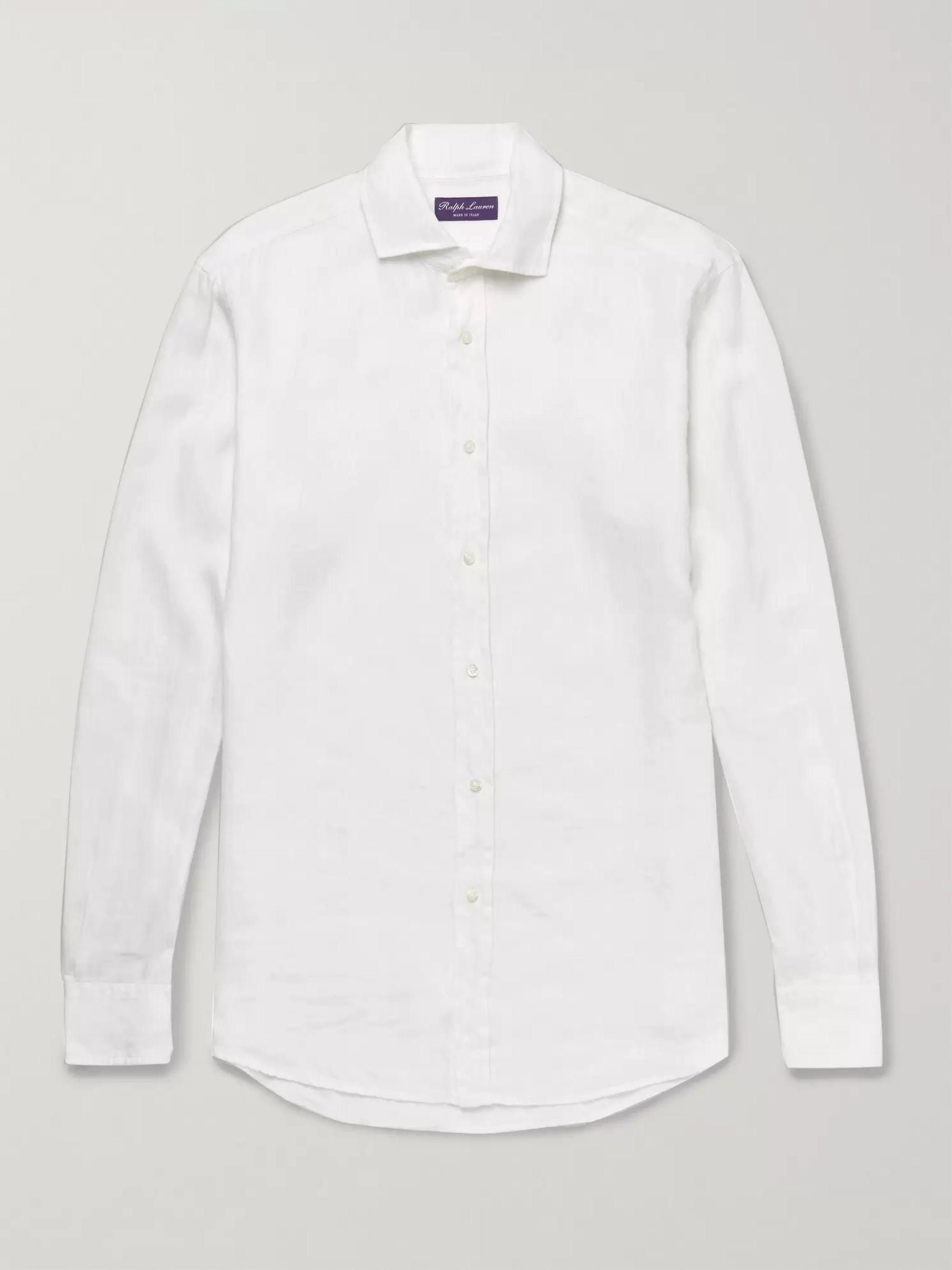 Aston Collar Linen Cutaway Slub Shirt Ybg76yfv