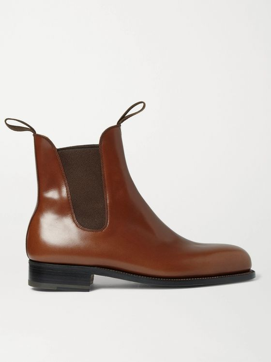 J.M. Weston Goodyear-Welted Leather Chelsea Boots