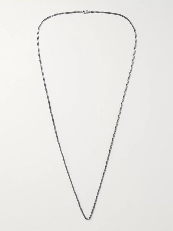Miansai Burnished Sterling Silver Chain Necklace