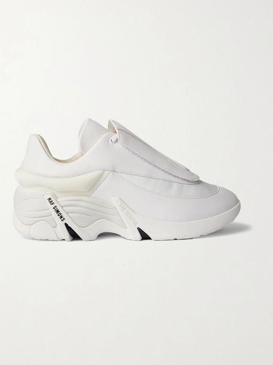 Raf Simons Antei Rubber-Trimmed Leather Sneakers