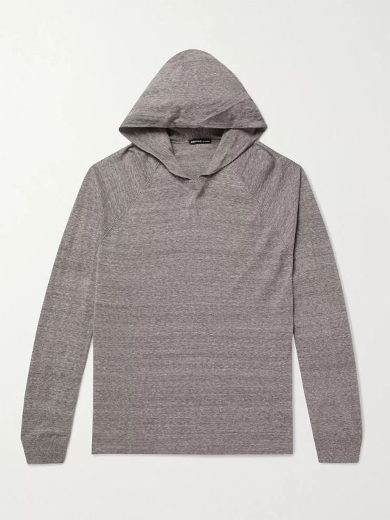 JAMES PERSE Mélange Cotton-Jersey Hoodie