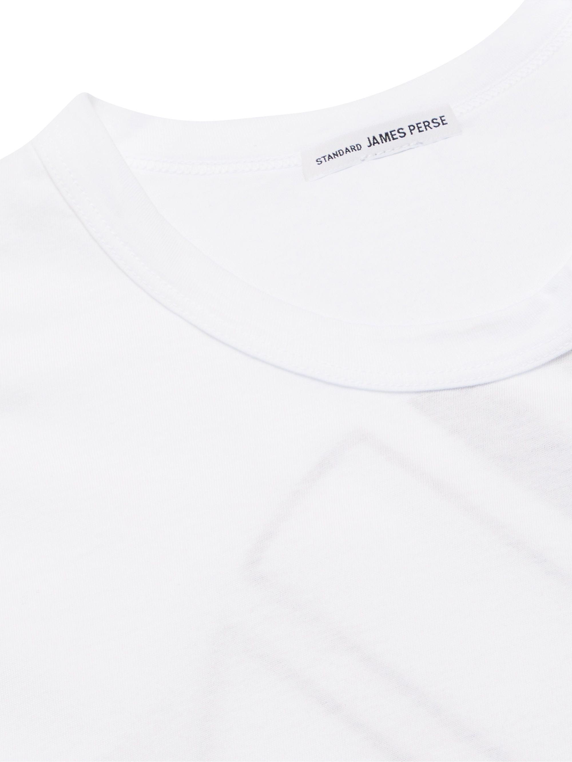 White Printed Cotton-jersey T-shirt   James Perse