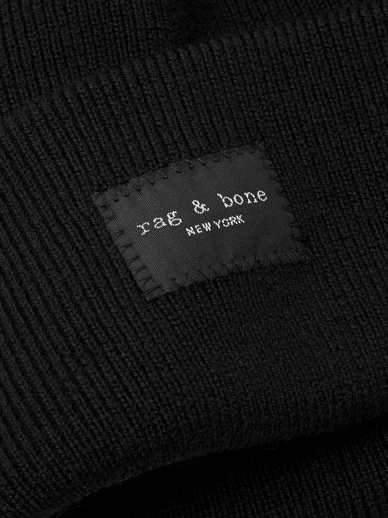 RAG & BONE Addison Logo-Appliquéd Wool-Blend Beanie