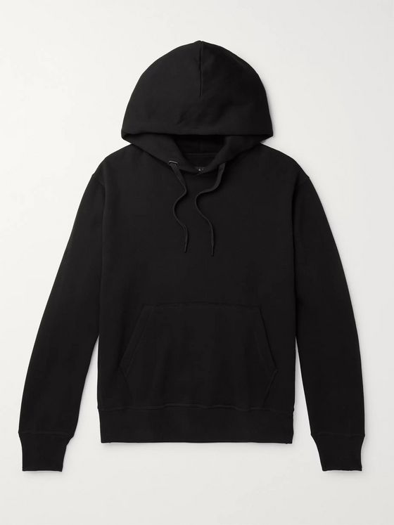 RAG & BONE Damon Fleece-Back Cotton-Blend Jersey Hoodie