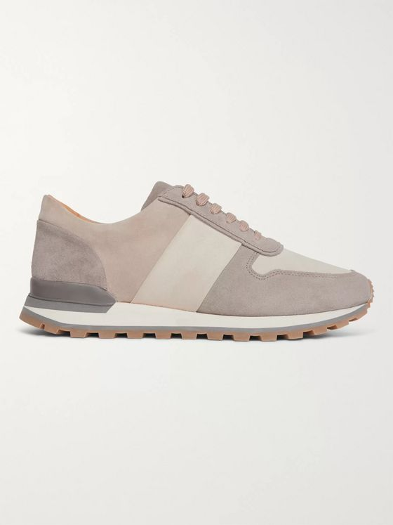Mr P. Colour-Block Suede Sneakers