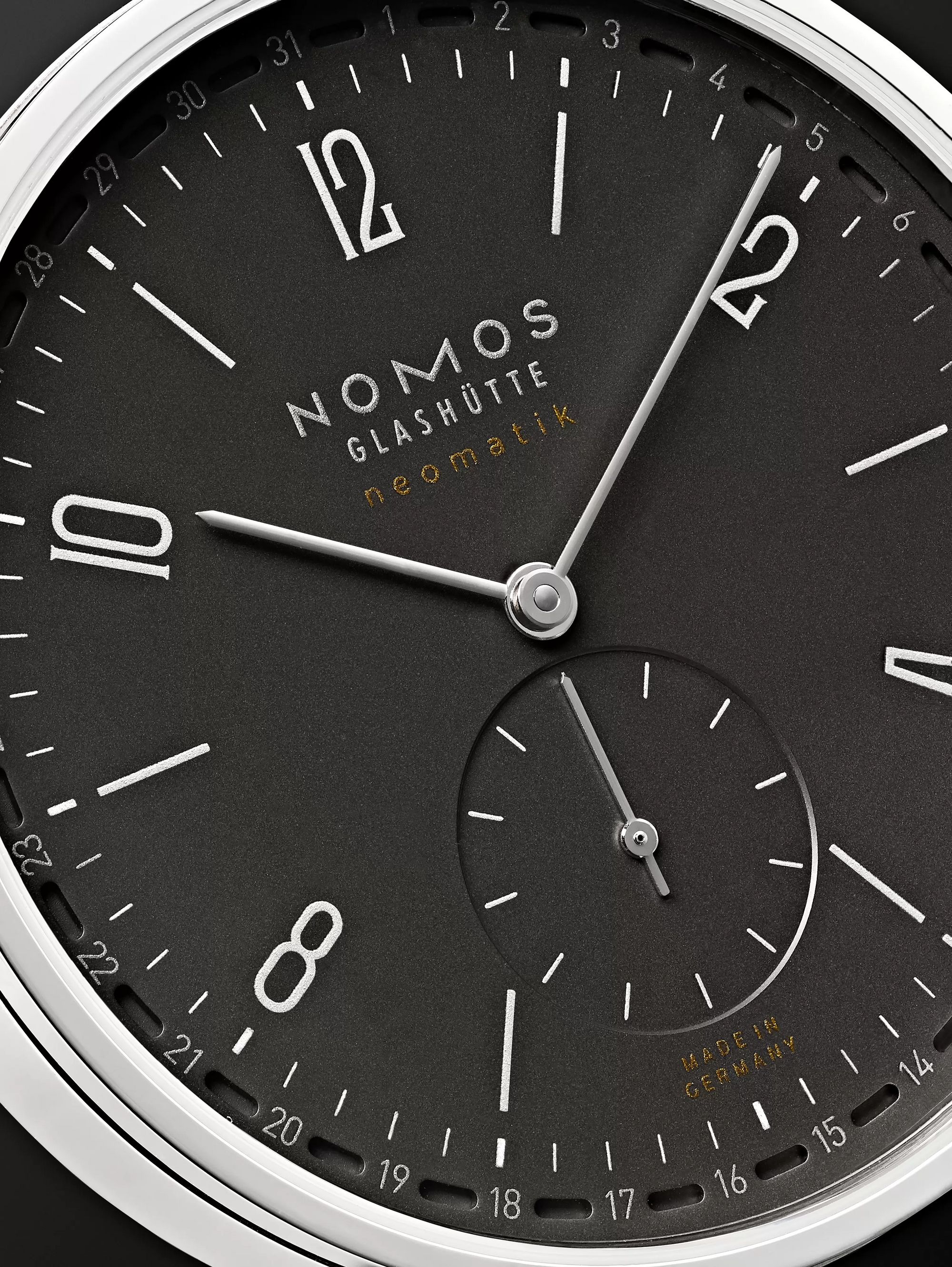 NOMOS Glashütte Tangente Neomatik Automatic 40.5mm Stainless Steel and Horween Cordovan Leather Watch, Ref. No. 181