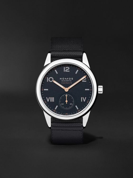 NOMOS Glashütte Club Campus Neomatik Automatic 39.5mm Stainless Steel and Canvas Watch, Ref. No. 767