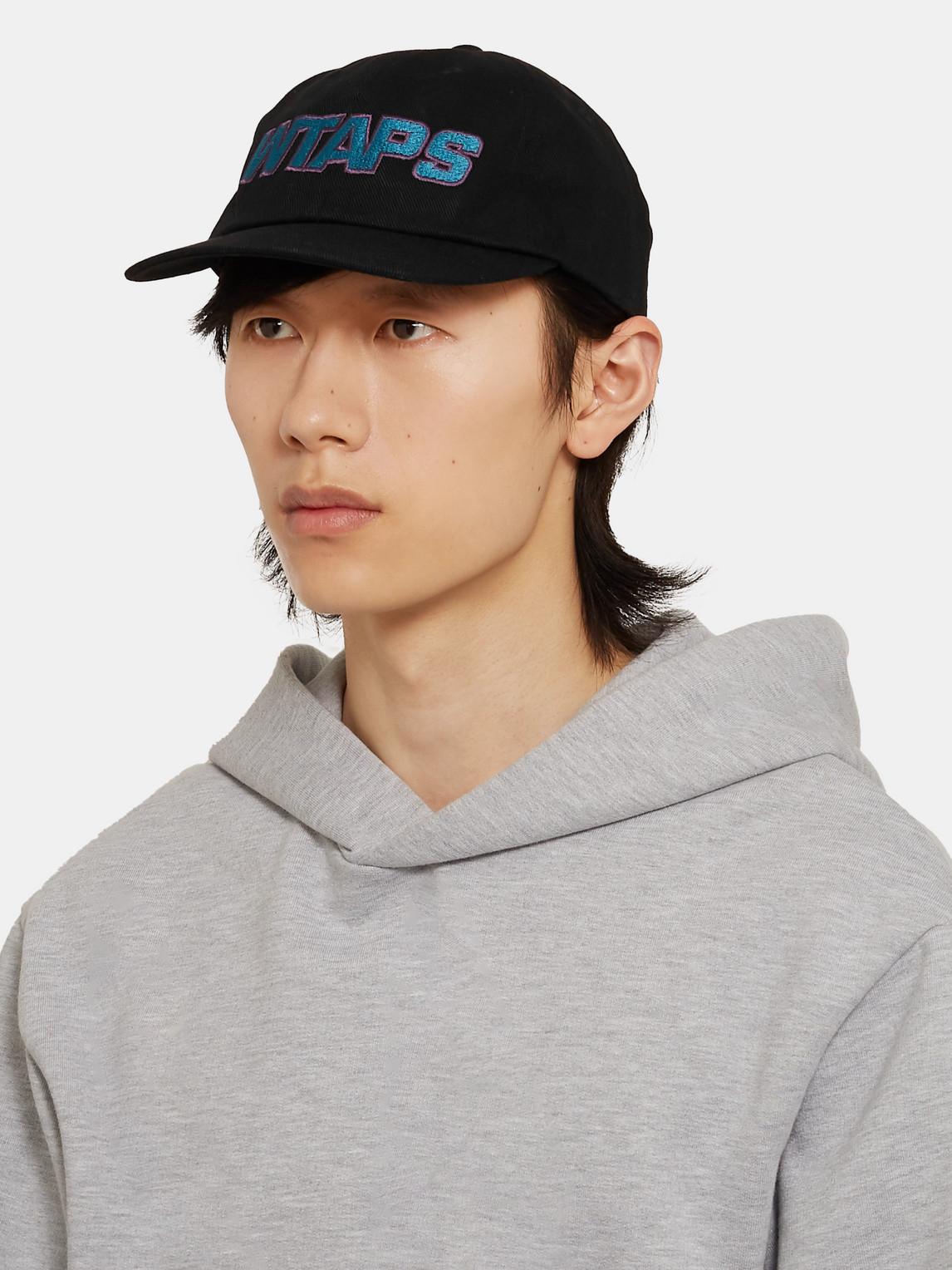 Wtaps Logo-embroidered Cotton-twill Baseball Cap In Black