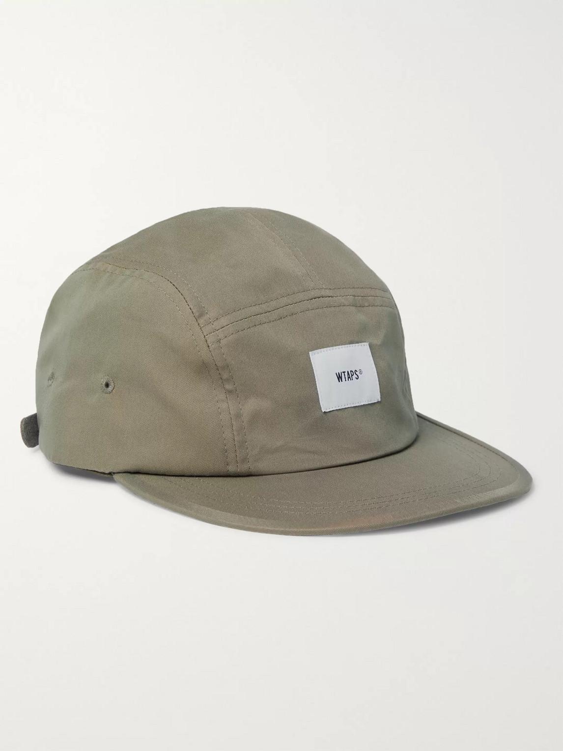 Wtaps Logo-appliquéd Cotton-blend Twill Camper Cap In Green